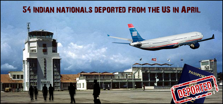 54 Indian nationals deported from the US in April