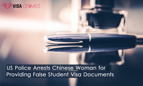 US Police Arrests Chinese Woman for Providing False Student Visa Documents