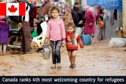 Canada ranks 4th most welcoming country for refugees