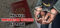 Immigration officers arrested for Illegal Activities in Malaysia