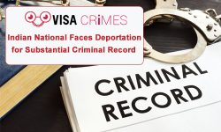 Indian National Faces Deportation for Substantial Criminal Record